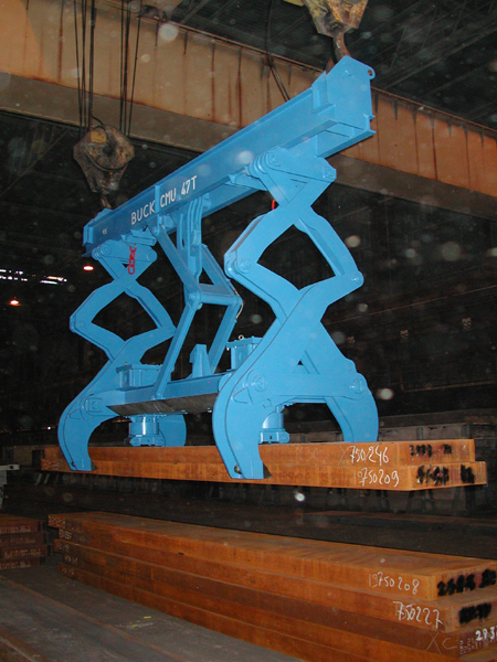 slab tong mechanical; Brammenzange